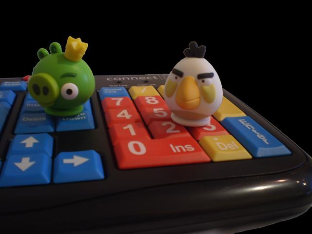 Dárek pro IT caparty  Barevná klávesnice nebo flashky Angry Birds ... 65000c4118