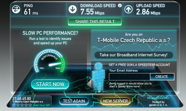 TP-Link M5350 - speed_test