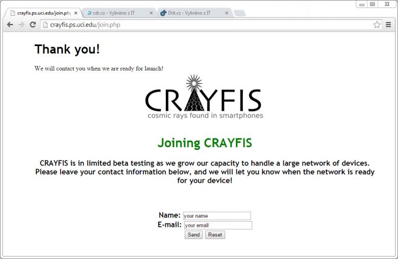 Crayfis Cdr