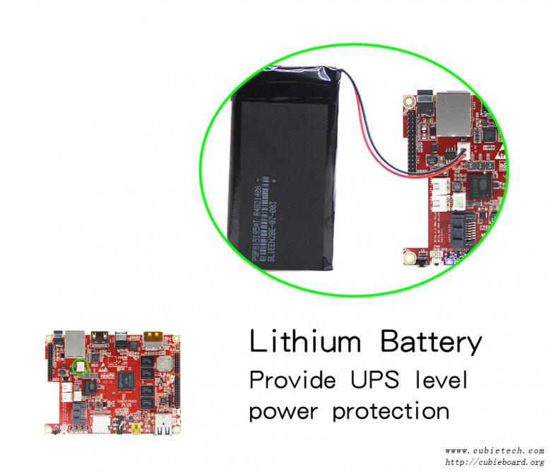 Cubieboard 5 Battery