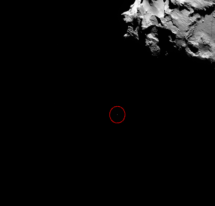 Philae Descending To The Comet Wide Angle View Node Full Image 2