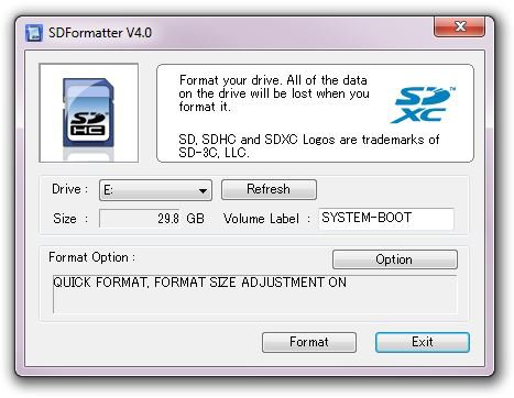 Sdcard Formater Raspberry 1