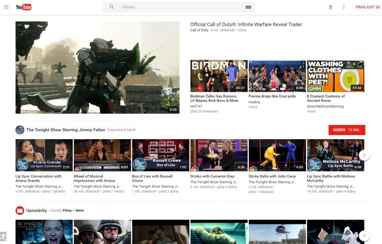 Youtube Novy Vzhled