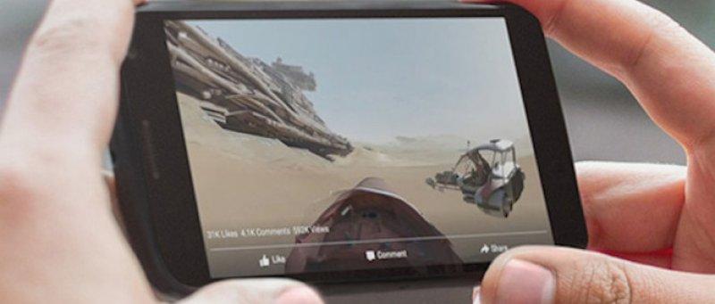 Facebook Star Wars Force Awakens 360 Video Full Screen