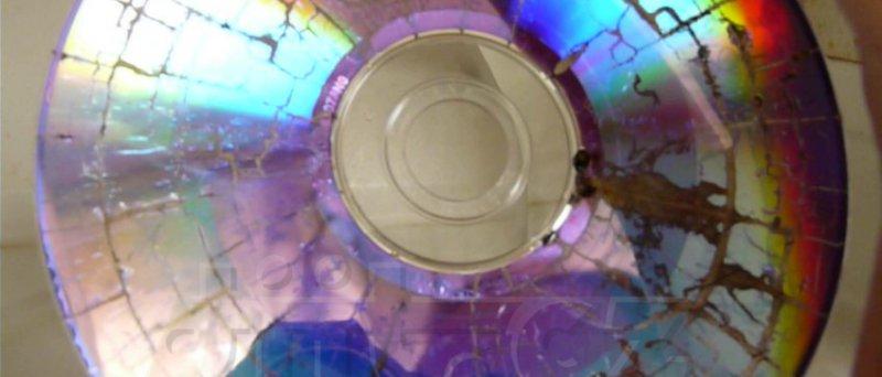 DVD-R spálené v mikrovlnce