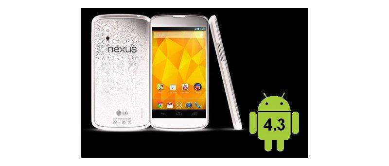 Nexus 4 white + Android 4.3 - úvodní foto