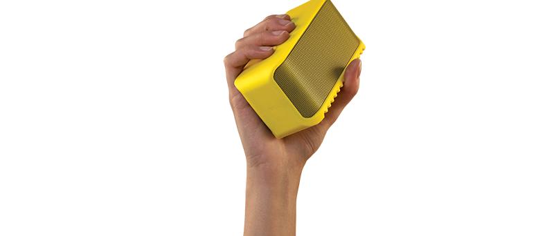 Jabra-Solemate_Mini_yellow_HAND_for_white_background