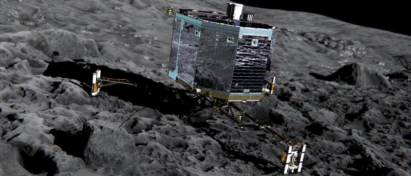 Sledujte živý přenos k vůbec prvnímu přistání modulu na kometě!