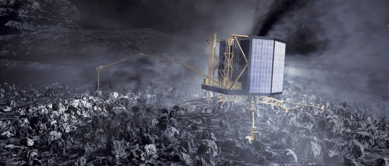 Rosetta S Philae Lander On Comet Nucleus