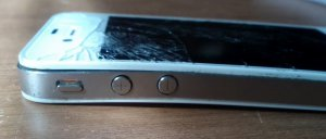 Broken Iphone Curved And Warped