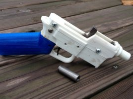 3 D Printed Gun With Ammo