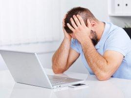 Computer User Depressed