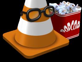 VLC logo popcorn