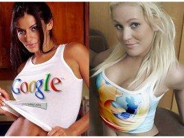 Google girl vs. Firefox girl