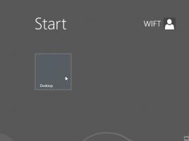 Windows 8 - obrazovka Start pouze s ikonou Desktop