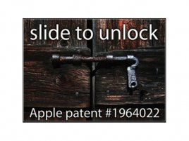 Apple patent - slide to unlock
