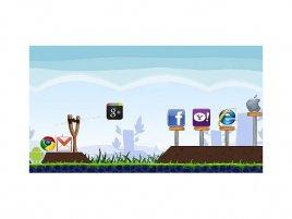 Google Plus as Angry Birds
