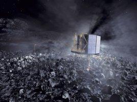Rosetta S Philae Lander On Comet Nucleus